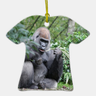 silverback gorillas Double-Sided T-Shirt ceramic christmas ornament