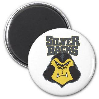 Silverback Logo WW 2 Inch Round Magnet