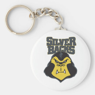 Silverback Logo WW Basic Round Button Keychain