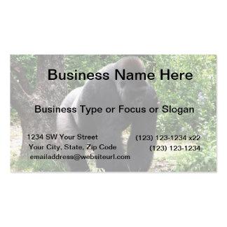 Silverback Male Gorilla walking head down.jpg Business Card