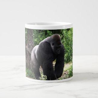 Silverback Male Gorilla walking head down.jpg Giant Coffee Mug
