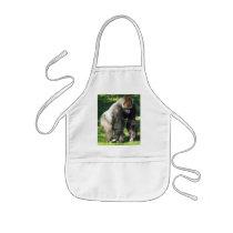 Silverback Male Lowland Gorilla Standing Up Kids' Apron