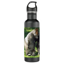 Silverback Male Lowland Gorilla Standing Up Stainless Steel Water Bottle