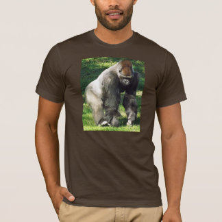Silverback Male Lowland Gorilla Standing Up T-Shirt