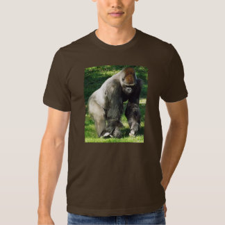 Silverback Male Lowland Gorilla Standing Up Tees