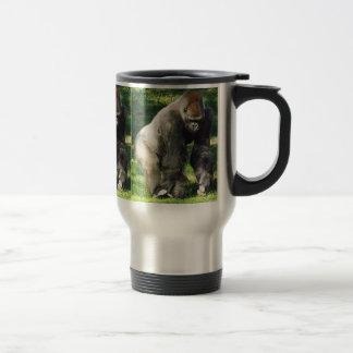 Silverback Male Lowland Gorilla Standing Up Travel Mug