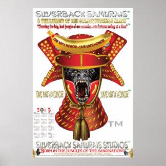 SILVERBACK SAMURAIS STUDIOS™ 2015 WALL POSTER