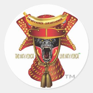 Silverback Samurais Studios™ Round Stickers