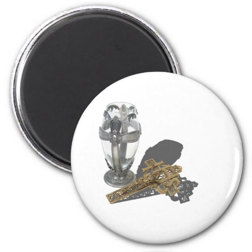 SilverCrossChaliceCrucifix042112.png 2 Inch Round Magnet