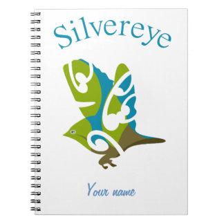 Silvereye bird notebook