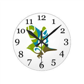 Silvereye bird round clock