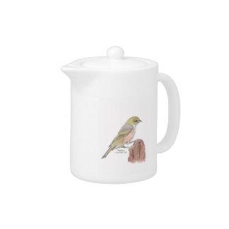 Silvereye Bird Teapot