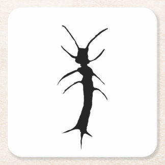 Silverfish Wilhelm, Stamped Square Paper Coaster