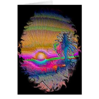 Silverlake Sunset 1 Negative Card