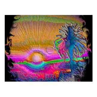 Silverlake Sunset 1 Negative Postcard