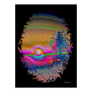 Silverlake Sunset 1 Negative Poster