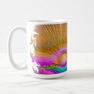 Silverlake Sunset 1 oval mug