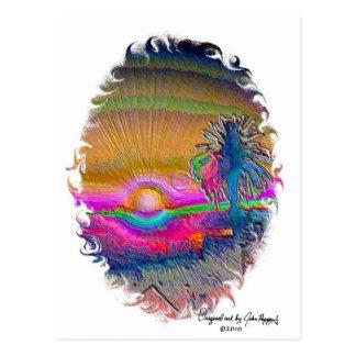 Silverlake Sunset 1 oval Postcard