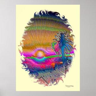 Silverlake Sunset 1 oval Poster