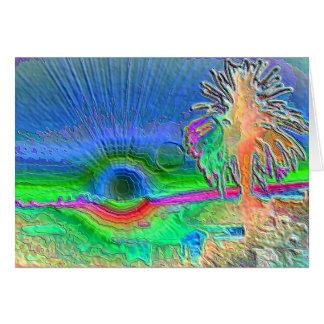 Silverlake Sunset Negative Card