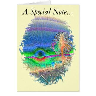 Silverlake Sunset Negative Oval Card