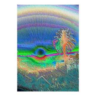 Silverlake Sunset Negative Poster