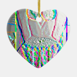 Silverline 2013 - Merry Christmas HappyNewYear Double-Sided Heart Ceramic Christmas Ornament