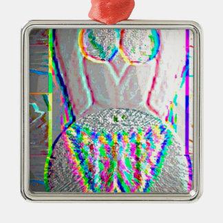 Silverline 2013 - Merry Christmas HappyNewYear Square Metal Christmas Ornament