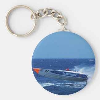 Silverline sponsored powerboat. keychain