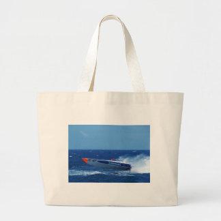 Silverline sponsored powerboat. large tote bag