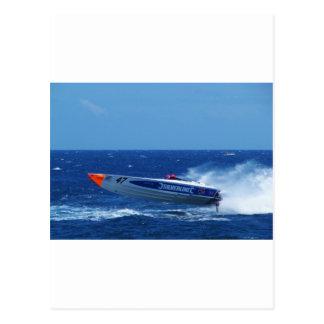 Silverline sponsored powerboat. postcard