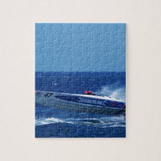 Silverline sponsored powerboat. jigsaw puzzles