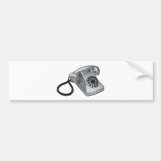 SilverRetroDeskPhone052711 Bumper Sticker