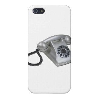 SilverRetroDeskPhone052711 iPhone 5 Case