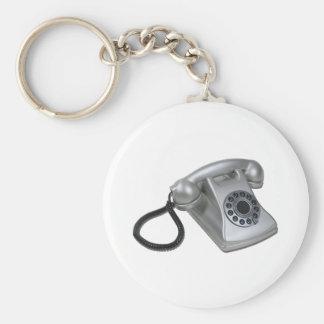 SilverRetroDeskPhone052711 Keychain