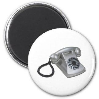 SilverRetroDeskPhone052711 Fridge Magnet