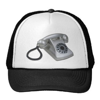 SilverRetroDeskPhone052711 Trucker Hat