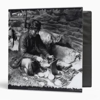 Silversmith at work, c.1914 binder