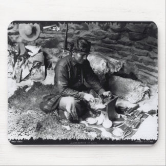 Silversmith at work, c.1914 mouse pad