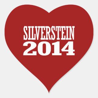 SILVERSTEIN 2014 HEART STICKERS