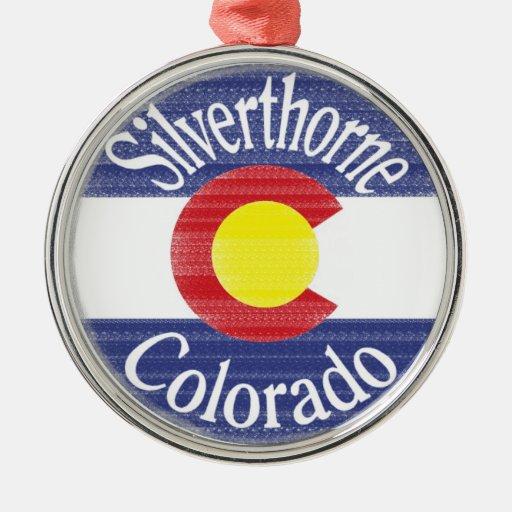 Silverthorne Colorado circle flag Christmas Ornaments