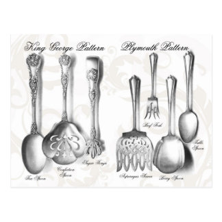 Silverware Collection Postcard