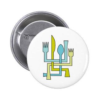 Silverware Crossing Pinback Button