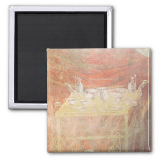 Silverware on a table 2 inch square magnet