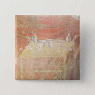 Silverware on a table pinback button