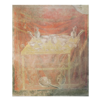 Silverware on a table poster