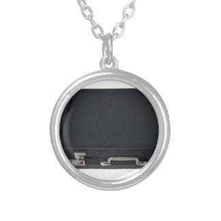 SilverwareAndBriefcase070315 Round Pendant Necklace