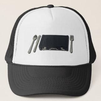 SilverwareAndBriefcase070315 Trucker Hat