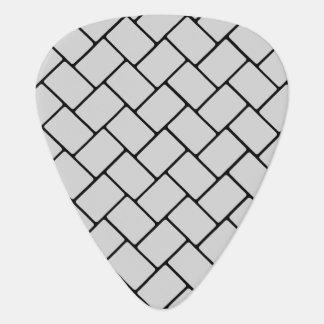 Silvery Basket Weave 2 Guitar Pick