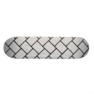 Silvery Basket Weave 2 Skateboard